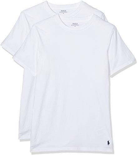 Polo Ralph Lauren Herren Classic T-Shirt, Weiß (2Pk White 002), Medium (2erPack