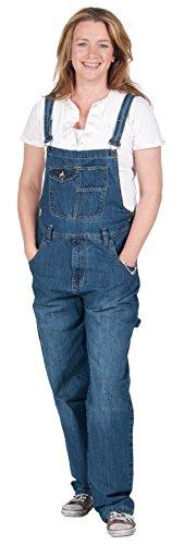 Peviani - Premium-Latzhose - Stone washed Damen Männer Jeanslatzhosen Jeans