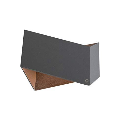QAZQA Design/Modern Wandleuchte Fold grau mit kupfer/Innenbeleuchtung/Wohnzimmerlampe/Schlafzimmer/Küche Aluminium Andere LED geeignet G9 Max. 1 x 40 Watt