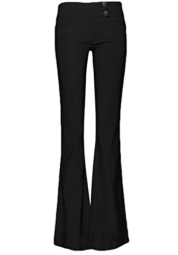 Womens Rev Label 2 bottoni-Pantaloni sportivi, colore: nero-8L