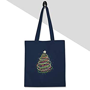 Shirtracer – Weihnachten & Silvester – Abstrakter Weihnachtsbaum – Stoffbeutel aus Baumwolle Jutebeutel lange Henkel
