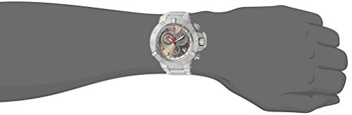 Invicta Men's 'Connection' Quartz Stainless Steel Casual Watch, Color Silver-Toned (Model: 24720)