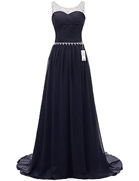 Eudolah Damen Abendkleider Elegant Ballkleider lang Maxi Bunte Kleider