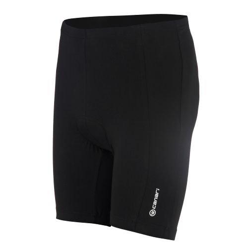Canari Damen Radhose Core, Damen Herren, schwarz, X-Large (Lycra-radhose 8 Panel)