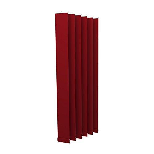 Victoria M. Lamellenvorhang, Jalousie Isabella - I-Form, leicht lichtdurchlässig - 8,9 x 250 cm, rot | 6er Pack