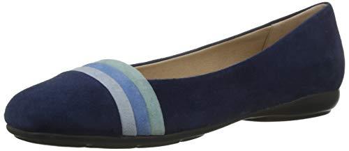 Geox Damen D Annytah a Geschlossene Ballerinas, Blau (Blue/Avio C0226), 41 EU