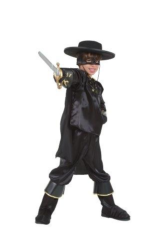Cesar - o858-006 - costume da zorro per bambino, 8/10 anni, colore: nero