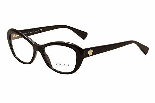Versace Montures de lunettes 3216 Pour Femme Tortoise, 52mm 5148: Tortoise