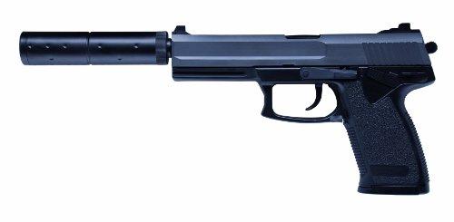 GSG Softair Pistole Modell MK23 inkl. Laufverlängerung (<0,5 Joule), schwarz, 202358