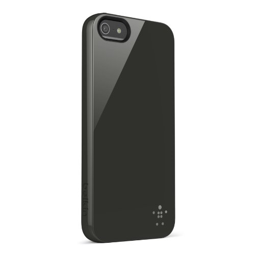Belkin blickdicht Glanz-Hartschale für iPhone 5 schwarz