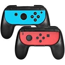 Joy-Con Grip-Set für Nintendo Schalter, verschleißfest Joy-Con Griff für Nintendo Schalter, 2 Schwarz/Schwarz Schwarz/Schwarz AB-123
