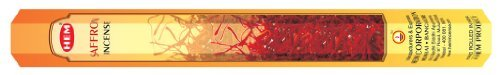 Safran – Boîte de six 20 bâton tubes, 120 bâtonnets Total – Ourlet Encens