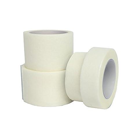 6Stück qualicare Hypoallergen Professionelle Soft Stoff Medical Micropore weiß Klebeband (1.25cm X (Erste-hilfe-chirurgische Tape)