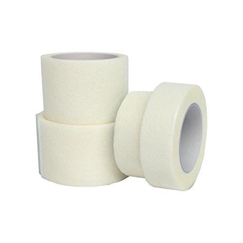 Qualicare, medizinisches Klebeband, hypoallergen, weiches Gewebe, mit Mikroporen, 1,25cm x 10m, Weiß, 6 Stück -