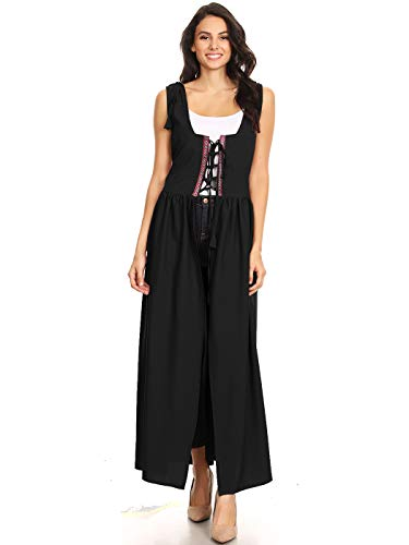 Anna-Kaci Damen Renaissance Mittelalter Kostüm Verstellbar Träger Taille Irische Außer Kleid