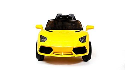 Lamborghini Style 12v coche eléctrico para niños con mando - potente batería 12v -Coche más vendido en 2018 - Amarillo