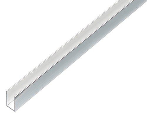 GAH-Alberts 488468 U-Profil - Aluminium, chromdesign, 1000 x 10 x 10 mm