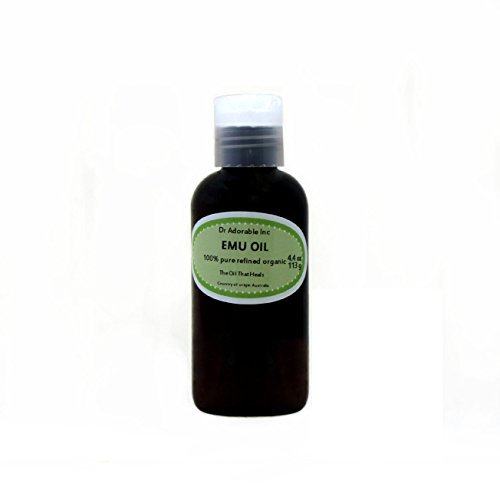 Australian Emu Oil by Dr. Adorable Triple Refined Organic 100% Pure 4 Oz
