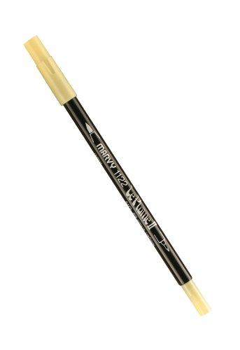 Unbekannt Uchida Marvy Extra feine Spitze Le Plume II Double Ender Marker Pen Citrus Yellow