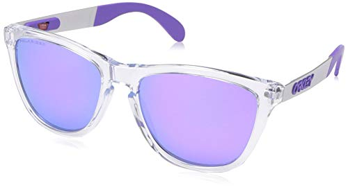 Ray-Ban Herren 0OO9428 Sonnenbrille, Pink (Polished Clear), 55