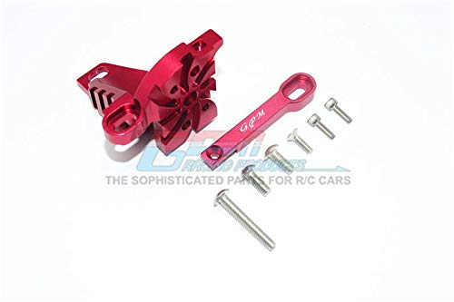 G.P.M. Traxxas Unlimited Desert Racer 4X4 (#85076-4) Tuning Teile Aluminium Motor Mount with Heat Sink Fins - 1 Set Red -