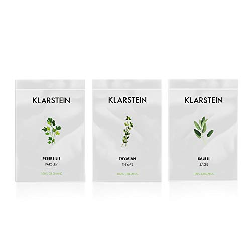Klarstein GrowIt Seeds Europe • 3 Sobres de Semillas: tomillo, Salvia, perejil...