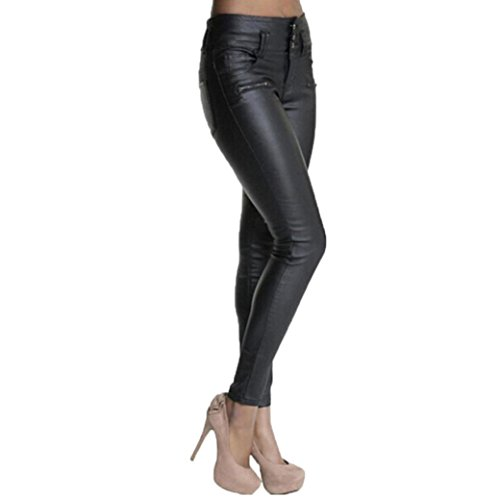 Pantalones Yoga Mujeres, ❤️Xinantime Polainas de Cuero de la PU de