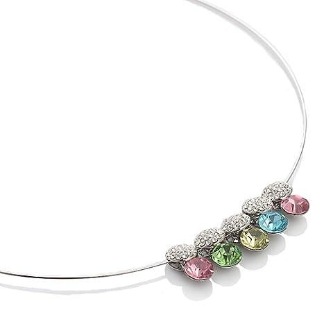 Janeo Swarovski & Costume Necklaces Herren - Silber, Rhodium mehrfarbig
