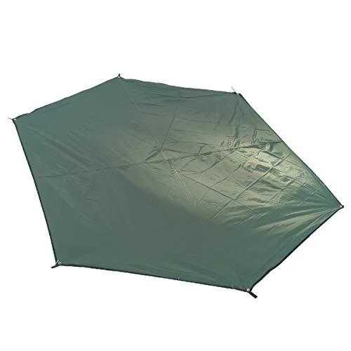 TRIWONDER wasserdichte Zeltplane, Oxford-Gewebe Tarp, Picknickdecke, Zeltunterlage für Outdoor, Camping, Hängematte (Dunkelgrün - L)