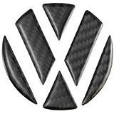 Eximtrade Auto Coche Fibra de Carbon Logo Pegatina para Volkswagen (Negro)