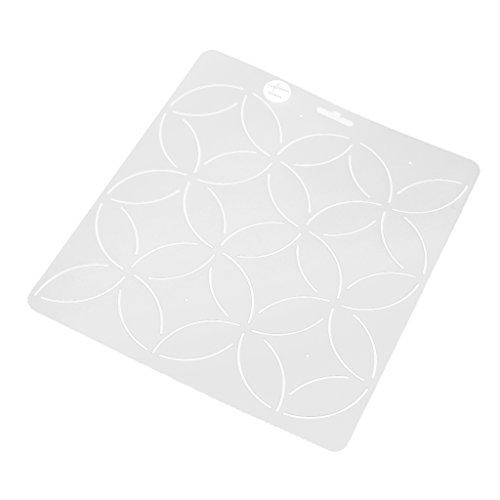 MagiDeal Clear Schablone Plastic Quilting Schablone Quilt Werkzeug Für Patchwork Malerei - Klar1 -