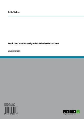 Funktion und Prestige des Niederdeutschen