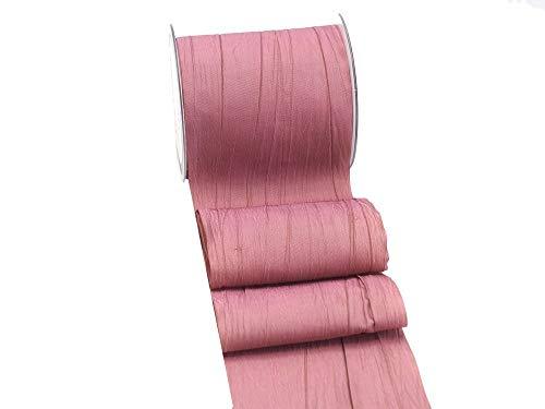 Unbekannt 15m Fripe Taft 100mm Tischband Rosa Mauve Pflaume Altrosa Hochzeit Taufe Kommunion Konfirmation Tischdeko, Farbe:Altrosa