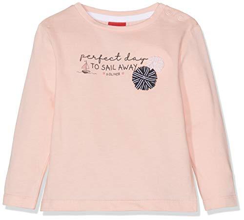 s.Oliver Baby-Mädchen 65.903.31.8643 Langarmshirt, Rosa (Light Rose 4136), Herstellergröße: 74