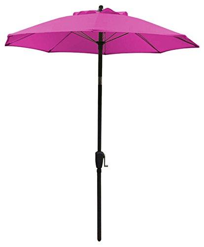 Dehner Sonnenschirm Vido, Ø 150 cm, Aluminium/Polyester, pink