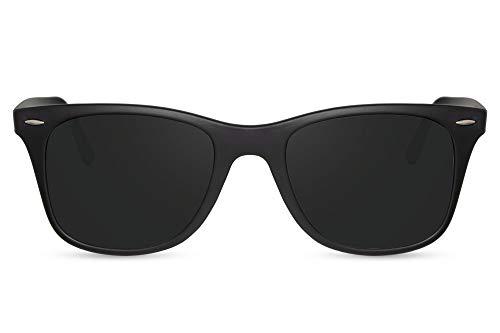 Cheapass Sonnenbrille Matt-Schwarz Grau-er Rahmen Recht-Eckig Sport-lich UV-400 Aluminium Damen Herren