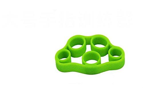 QILENE 1PC Finger Keilrahmen Hand Grip Nagelhärter Finger Grip Trainingsgerät (Grün)