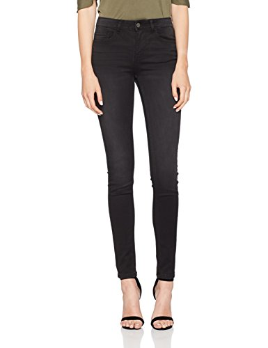PIECES Damen Skinny Jeans Pcfive Betty Jeggings Blk Wash/Noos, Schwarz (Black Black), 40 (Herstellergröße:L) (Betty-bügel)