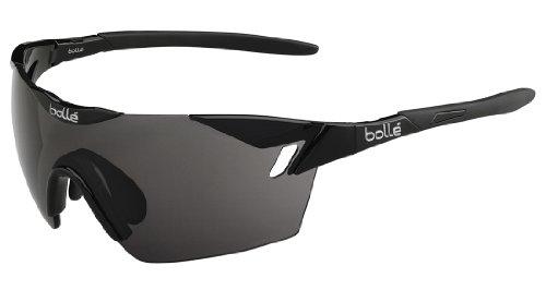 Bollé 6th Sense - Gafas de sol deportivas, color negro brillante / negro