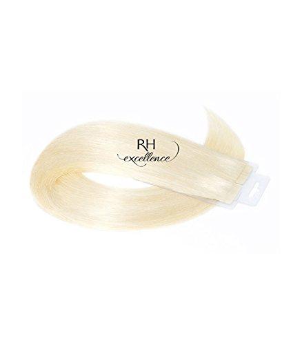 Extension Cheveux a Bande Adhésive Blond platine - 35/40 cm