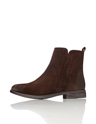 FIND Women's Flexi-Sole Leather Chelsea Boots, Brown (Congo), 7 UK