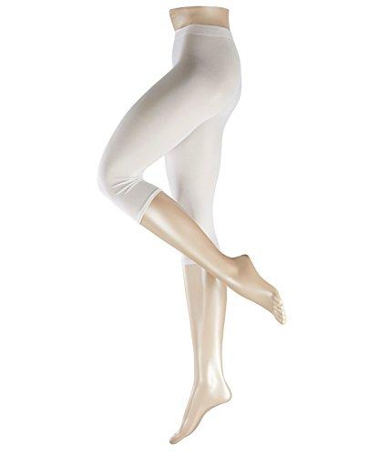 Esprit Damen Leggings  Cotton Capri 1 Paar - 58% Baumwolle - weiss - Größe 42-44 Blickdicht -Leggins Damenleggings -
