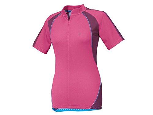 CRIVIT® Damen Fahrrad-T-Shirt, TOPCOOL Funktionsfaser (pink-lila, Gr. S 36/38)