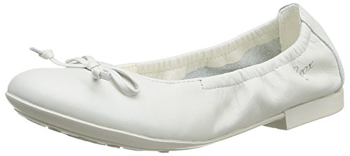 Geox J Plie A, Mädchen Ballerinas  Weiß Blanc (White) 29