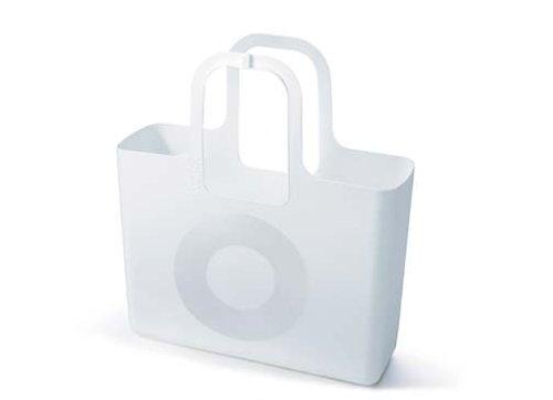 Koziol 5410582 Tasche, Plastik, senfgrün, 52 x 47 x 16 cm 525 weiß