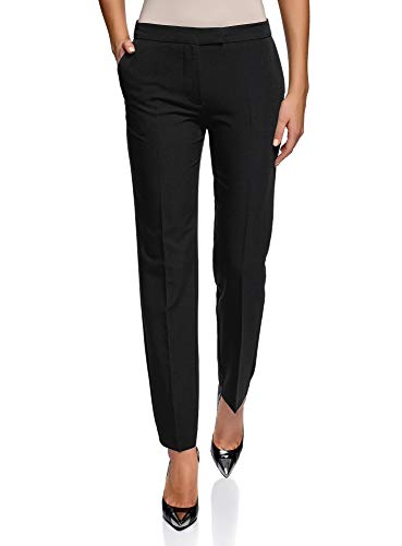 Oodji Collection Women's Classic Tight Pants, Black, ES 42 / L