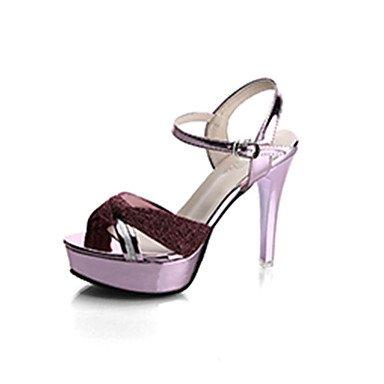 Zormey Frauen Heels Komfort Im Sommer Lackleder Outdoor Stiletto Heel Schnalle US7.5 / EU38 / UK5.5 / CN38
