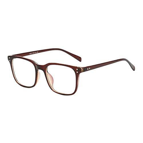 Yefree Unisex Retro Optische Gläser Quadratischen Rahmen Anti-Blaulicht Block leichte Brille