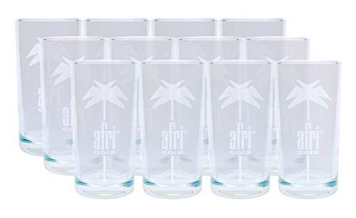 Afri Cola Longdrink Gläser 12 Stück 0,40l - mit Füllstrich