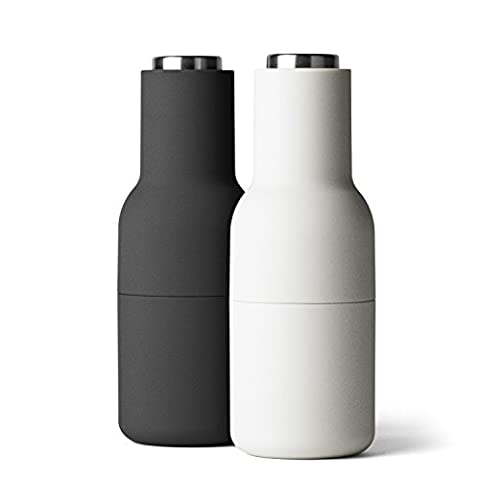 Menu 4418599 Bottle-Shaped Salt and Pepper Mills Stainless Steel Small